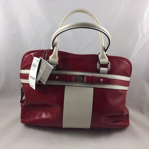 51f88032f0 Giani Bernini Glazed Red Bone Leather Satchel